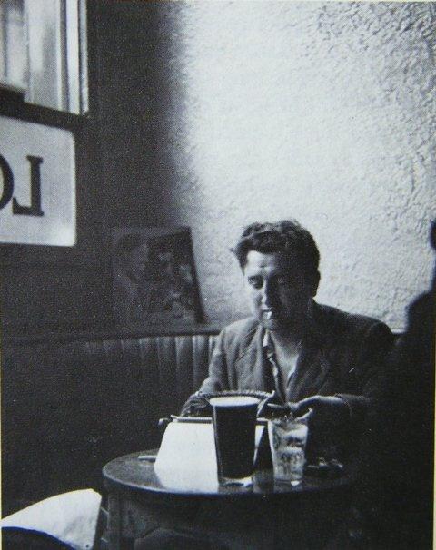 Irish Author Brendan Francis Behan with his Remington Typewriter & Guinness.  Happy St. Patty's!