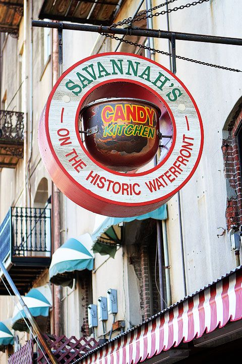 Savannah's Candy Kitchen... Their pralines are sooo good and they make them in front of you!