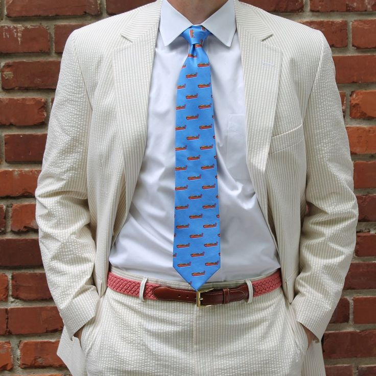 Two Button Seersucker Suit in Khaki by Hardwick Clothes