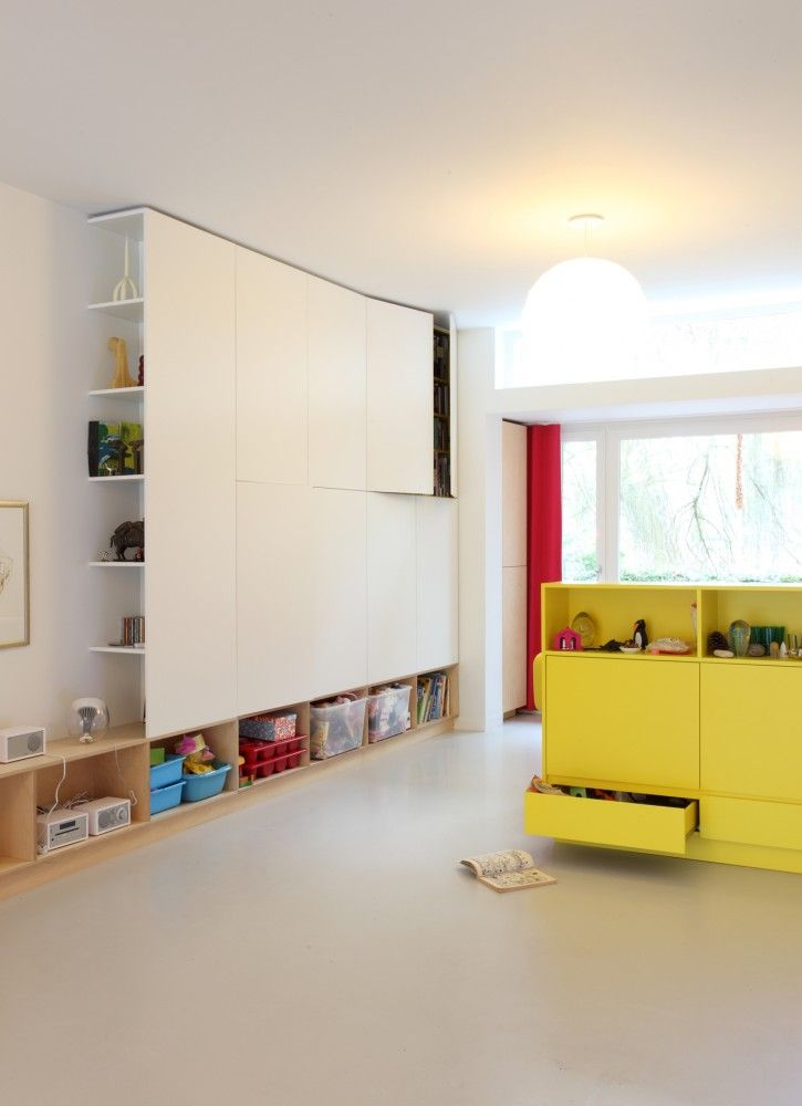 built-in storage in playroom