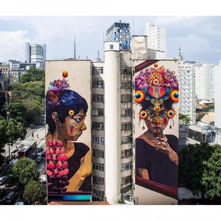 Best STREET ARTPHOTOGRAPHY Images On Pinterest Street Art - Beautiful giant murals greek gods pichi avo