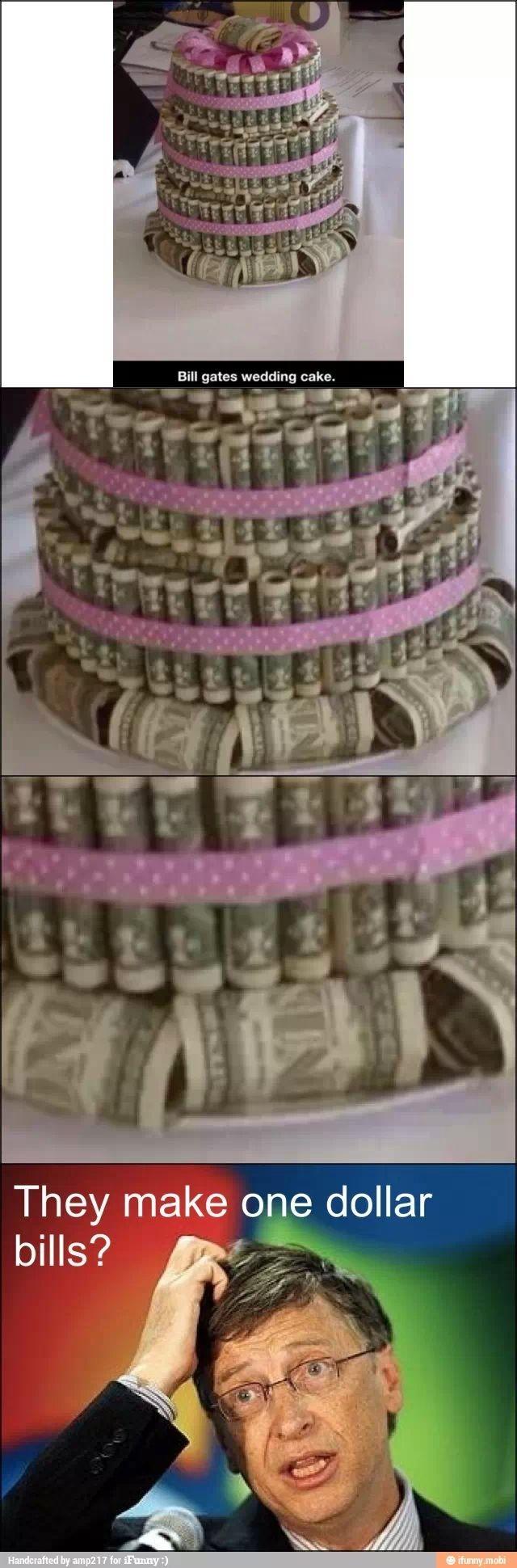 Bill Gates birthday cake