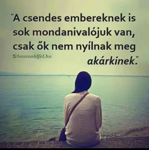 ,A csendes embereknek is sok mondanivalójuk van, csak Ők nem nyílnak meg akárkinek.