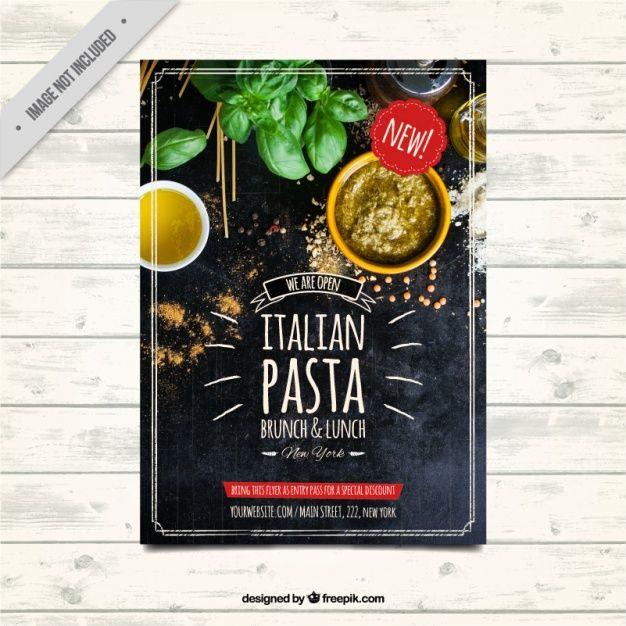 modello di brochure ristorante in stile vintage Vettore gratuito