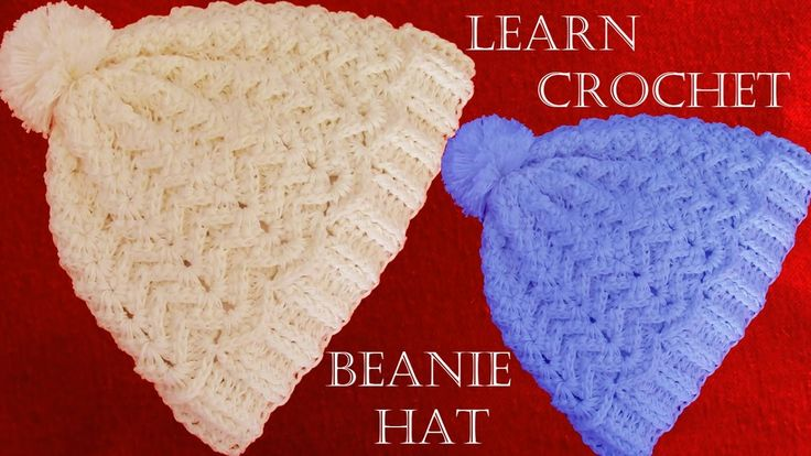 Como tejer gorro con relieve a Crochet o ganchillo - Learn Crochet Beani...