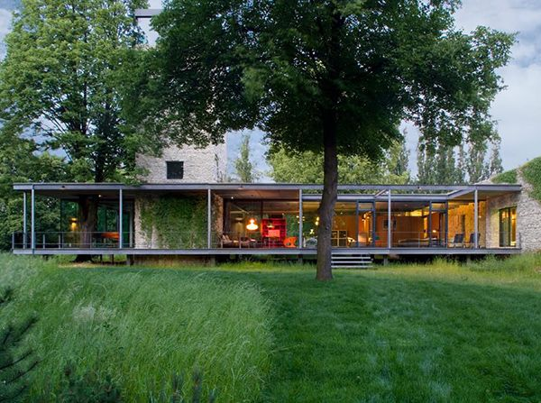 AppliancesDining and EntertainingHome AutomationModern OutdoorsHome Design Ideas Modern Glass Home in Krakow, Poland comes with a tree and a tower!  Designed by UK-based architects PCKO in co-operation with MOFO Architects of Krakow, Poland