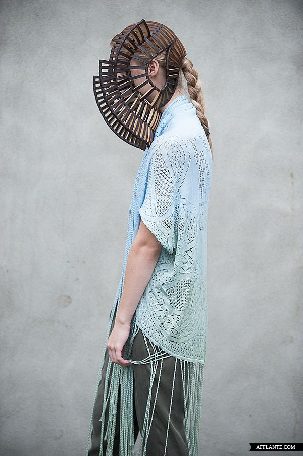 Sculptural Headpiece - creative millinery; conceptual fashion; wearable art // Stefanie Nieuwenhuyse