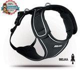 Pechera para Perro - BELKA Negro - Arnés pectoral ajustable para perros medianos a grandes. #JuegaConTuPerro