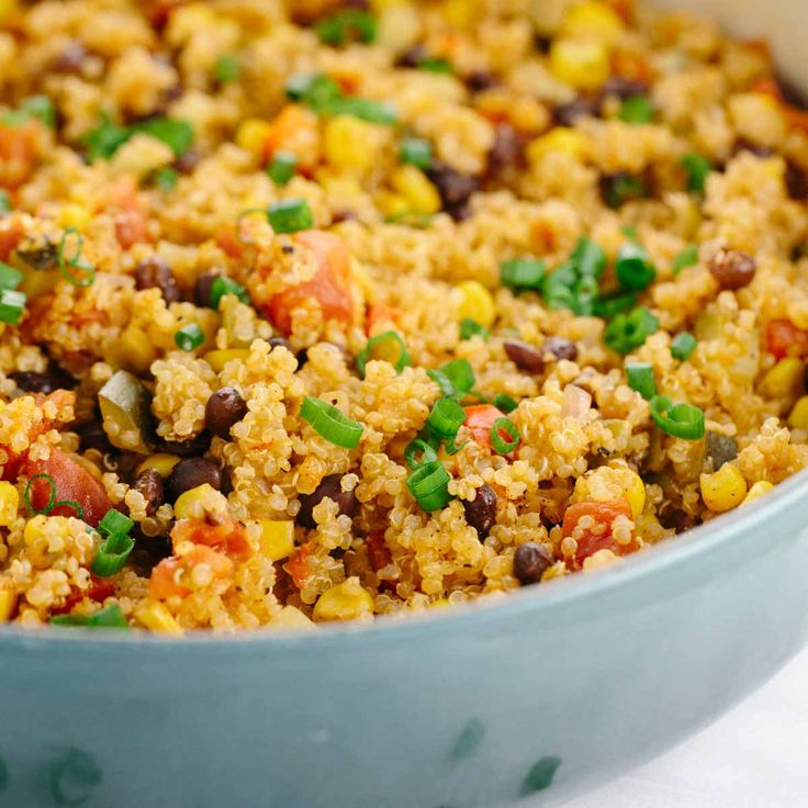 Easy one pot Mexican spiced vegetable quinoa is loaded with bold flavors and healthy ingredients. Protein, fiber, and vegetables in each delicious spoonful.