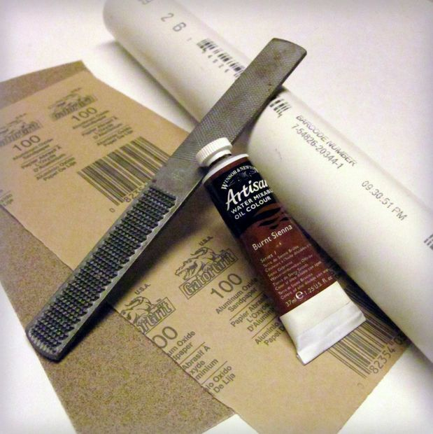 Make PVC look like wood. Picture of What You'll Need.