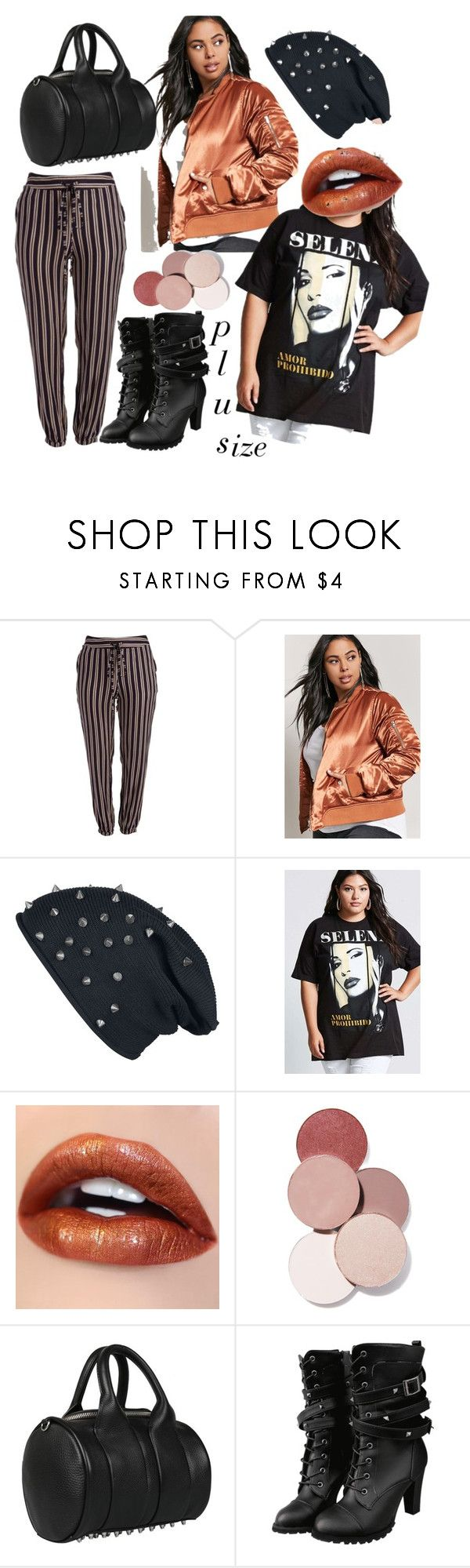 """""""Gasolina"""" by plus-size-royalty on Polyvore featuring Forever 21, LunatiCK Cosmetic Labs, Alexander Wang and plus size clothing"""