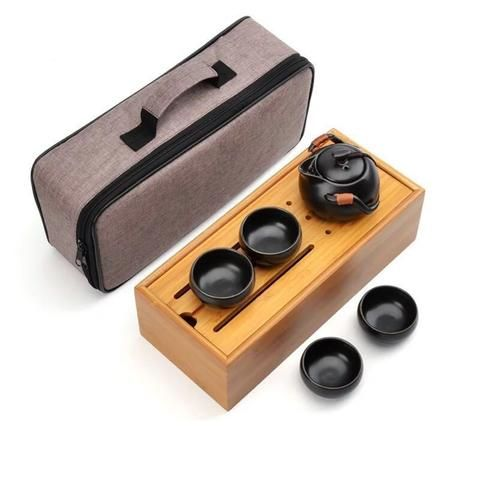 China Ceramic Portable Travel Tea Set