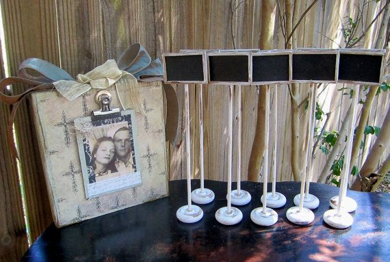 Set of 25 Chalkboard Table Numbers Name Cards by sweettomyheart, $92.50
