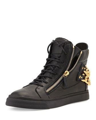 Chain-Back High-Top Sneaker by Giuseppe Zanotti at Neiman Marcus.
