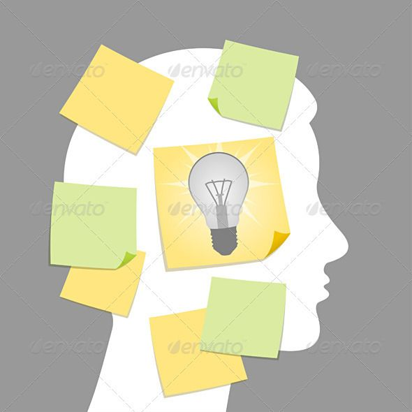 Eureka, the idea was found   #GraphicRiver         Idea concept illustrated as head and sticky notes in vector format     Created: 9September11 GraphicsFilesIncluded: VectorEPS #AIIllustrator #JPGImage Layered: No MinimumAdobeCSVersion: CS Tags: adhesive #adult #background #blank #business #businesswoman #concept #corporate #eureka #face #forehead #head #human #idea #isolated #memo #memory #message #note #paper #person #post #professional #remind #reminder #sticky #think #white #yellow…