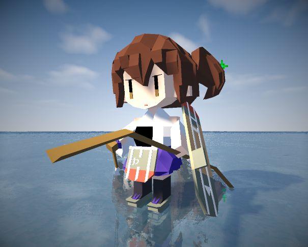Minecraftで作った加賀さん。 MODはJointBlock
