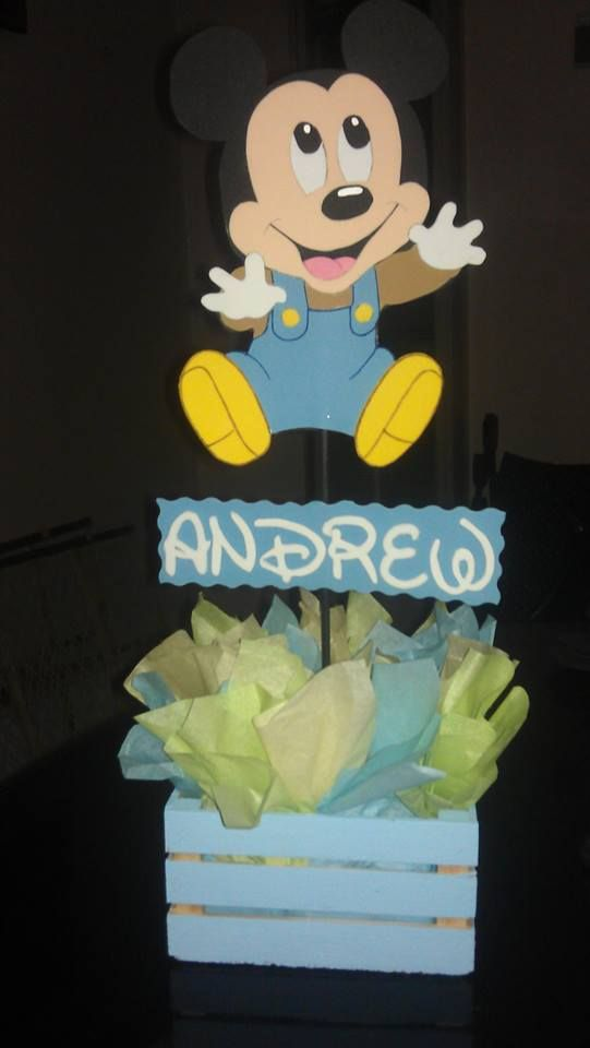 Baby Mickey Mouse Centerpiece