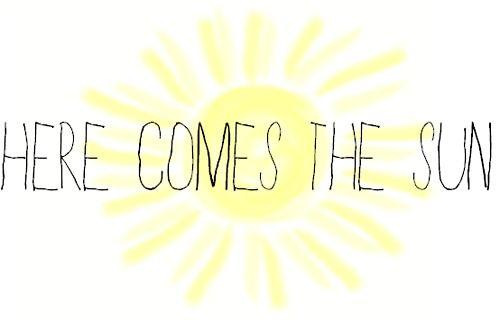 "The Beatles - ""Here Comes the Sun"" lyrics"
