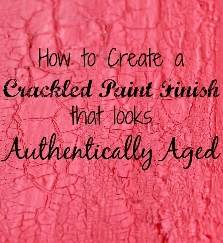 How to Create a Crackled Paint Finish via Knick of Time @ http://knickoftimeinteriors.blogspot.com/