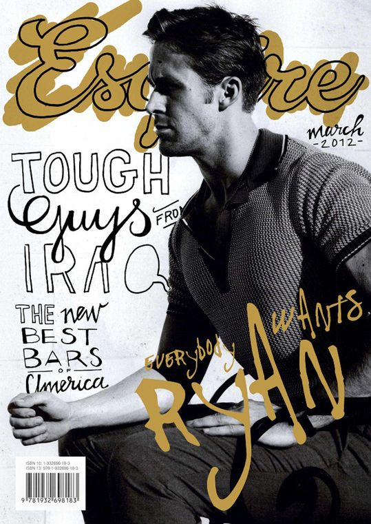 Ryan Gosling for Esquire - Ruggedly handsome men...this is a trend we like!