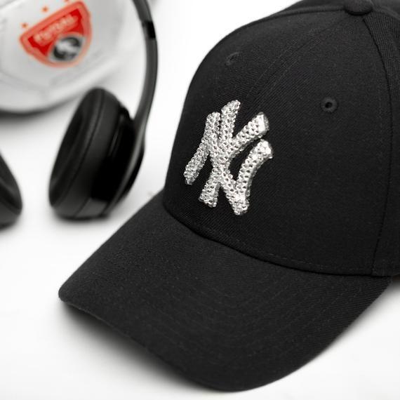Bling New York Yankees Hat Custom Baseball Cap Trending Etsy Yankees Hat New York Yankee Hat Womens Baseball Cap