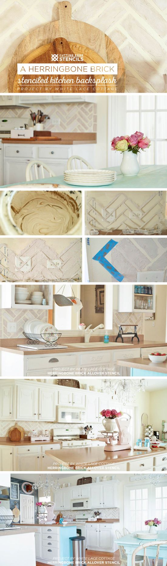 Kitchen Stencil 17 Best Images About Stenciled Painted Kitchens On Pinterest