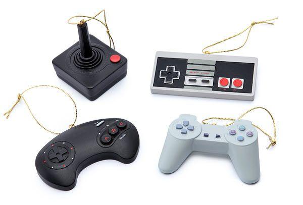Retro Game Controllers Christmas Ornament Set | Geek Decor