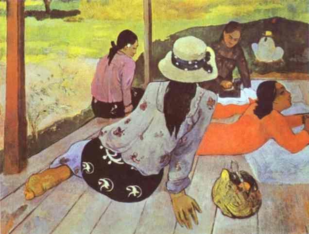 Gauguin - Siesta. Поль Гоген