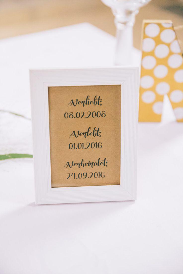 Verliebt, verlobt, verheiratet! Die Daten von Braut und Bräutigam.   Foto: Franka & Thomas Photographie