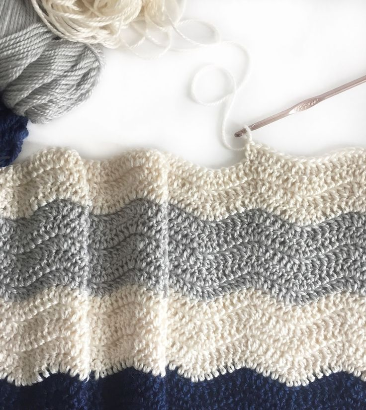 132 best Crochet: Chevron/Ripples Blankets images on Pinterest ...