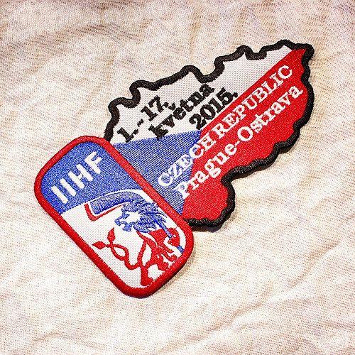 Нашивки к предстоящему Чемпионату Мира по хоккею в Чехии 2015. #iihf #icehockey #hockey #prague #ostrava #czechrepublic #czech #iihf2015 #embroidery #patch #нашивка #чм #хоккей #чехия #прага #острава #чемпионатмирапохоккею #praha #atelielv #riga #latvija