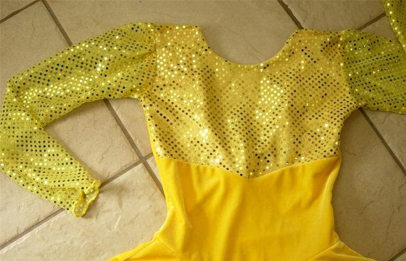 Velvet disco a mano lentejuelas amarillo canario por Styleskating