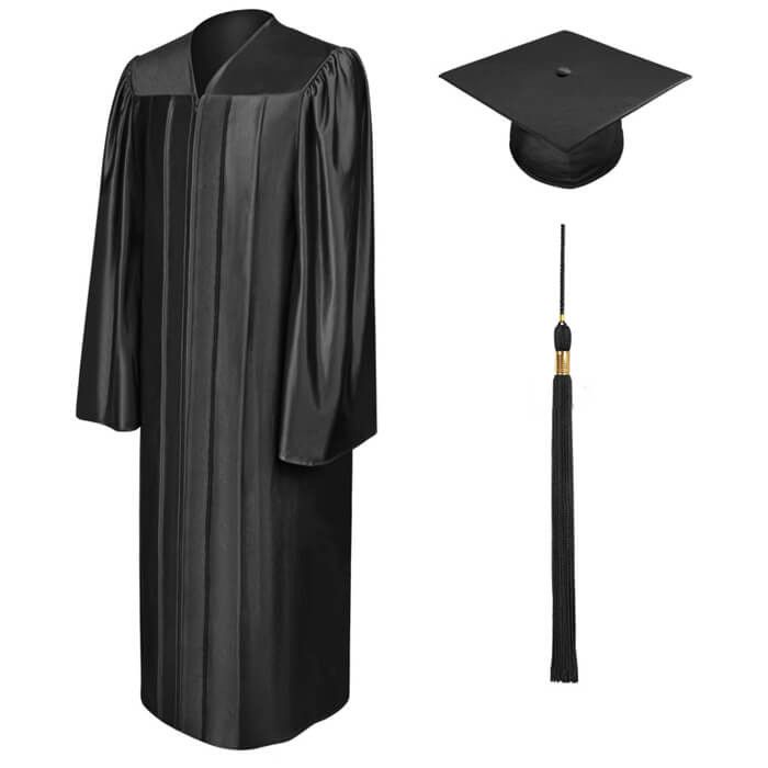 2016 Unisex Shiny Bachelor Graduation Cap & Gown School Uniform For College Academic Dress Of University on Aliexpress.com | Alibaba Group