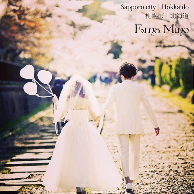【ema_mino_prewedding】さんのInstagramをピンしています。 《#prewedding #wedding #weddingphoto #weddingdress #photographer #bride #couple #cherryblossom #sakura #japan #hokkaido #前撮り #フォト婚 #ロケフォト #結婚 #カップル #ウェディング #ドレス #日本 #桜 #北海道 #婚紗 #婚紗攝影 #さくら》