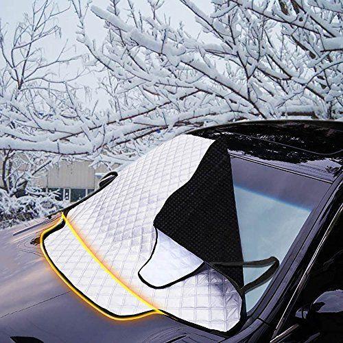 FREESOO Bache Pare Brise, Couverture pare-brise voiture, Anti Givre, Magnétique Pare-brise Voiture pour Anti UV, pluie,givre glace & neige…