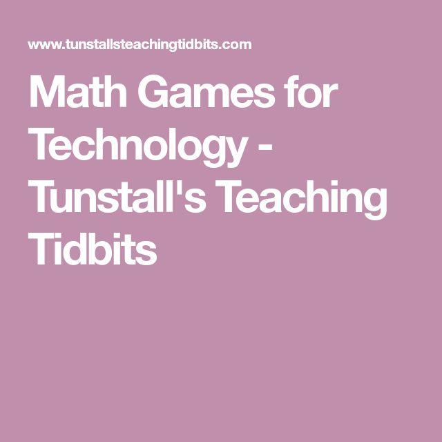 Math Games for Technology - Tunstall's Teaching Tidbits