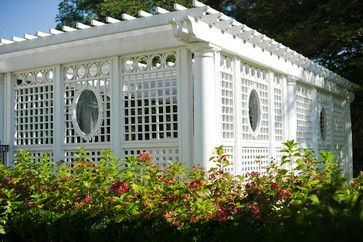 Adding lattice to the sides of your pergola provides for even more shade and privacy, plus it functions as a trellis if you want to add vines such as morning glories or trailing roses.  We design and install pergolas in the Minneapolis MN area. http://www.aldmn.com
