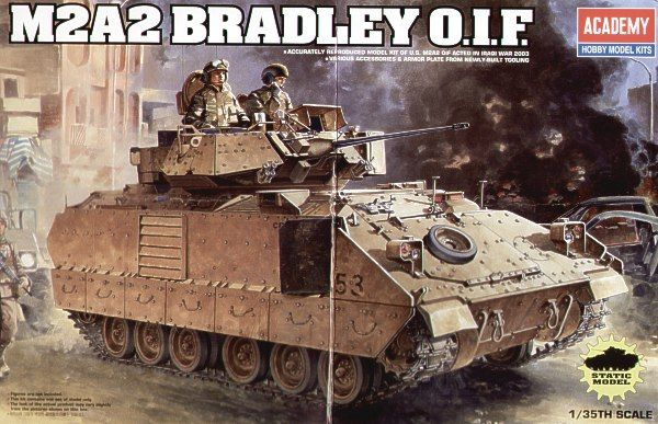 "M2A2 Bradley ""Iraq 2003"". Academy, 1/35, injection, No.13205. Price: 19,99 GBP."