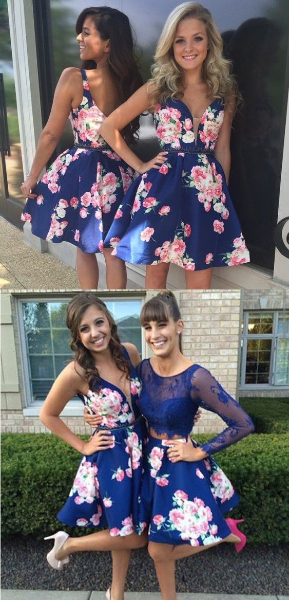 2016 homecoming dress, short homecoming dress, royal blue homecoming dress…