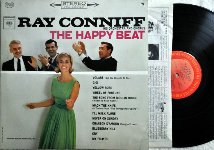 4LOT Ray Conniff The happy Beat Bridge Over Troubled Water Hawaiian Album & Jean
