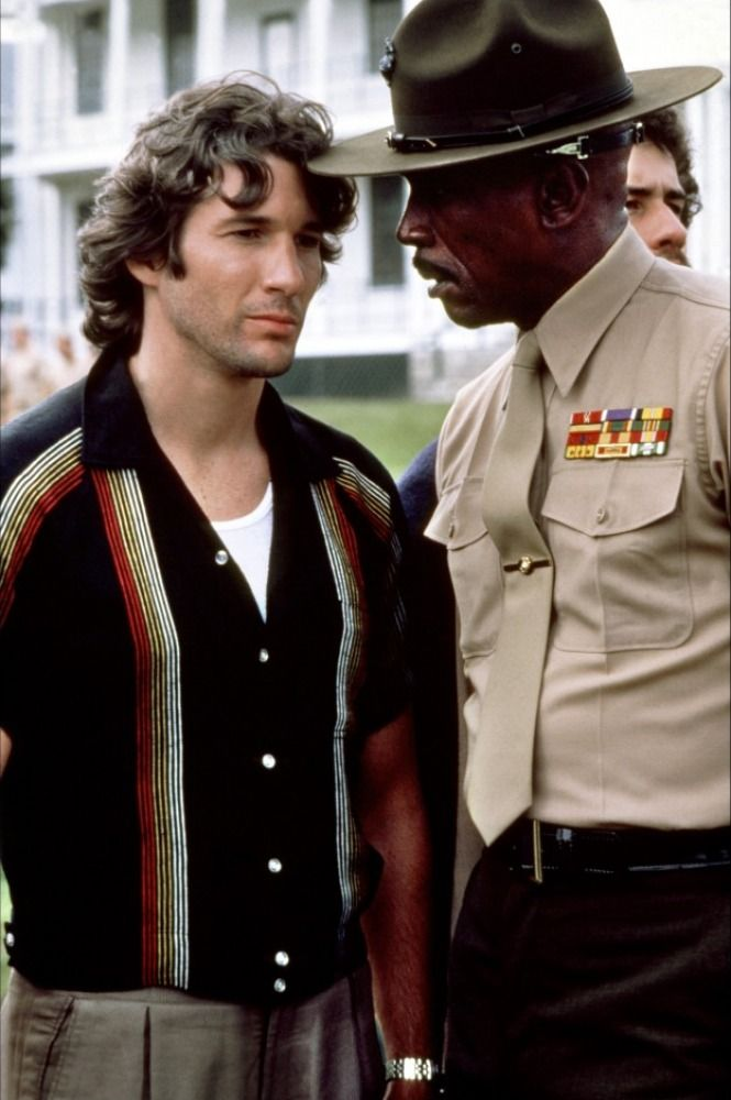 Richard Gere and Louis Gossett Jr. in An Officer and a Gentleman (1982)