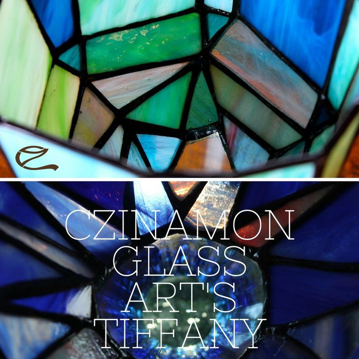CZINAMON GLASS ART Colours coming alive by the light! The magic coming alive by the colours!  #colors #tiffany #glass #czinamonglassart #czinamon #blue #sky #water #sea #deep #modern #play #squers #river #mood #light #feelings #feelinggood #handmade #mywork #own #candelholder #gyertyatartó #tiffanyüvegek #glassart