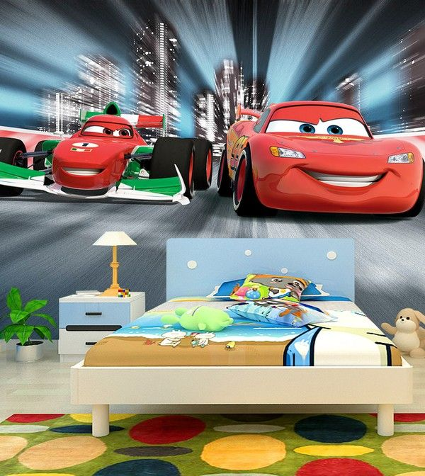Disney Cars Tapet Bilar Pixar Fototapet Barn Tapet Barntapeter Fondtapet Barnrum