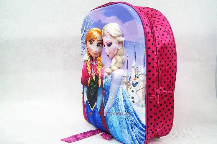 Plecak dla dziewczynki 3D Frozen Elsa Anna