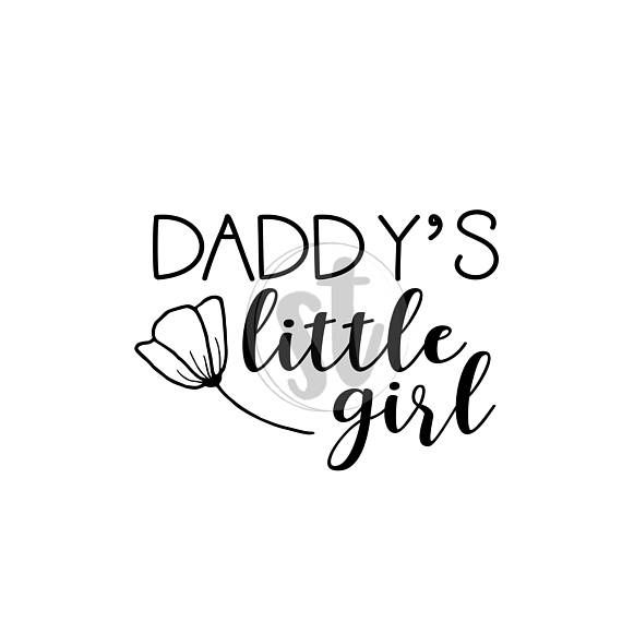 Daddy's little girl SVG cut file, Daddys little girl vector svg, pg, dxf, digital cutting file, baby onesie design, daddys girl SVG, clipart