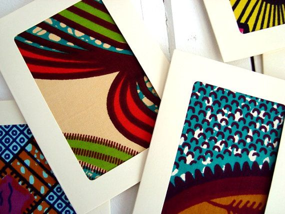50 Wedding-invitations African wax card set with by ChilliPeppa