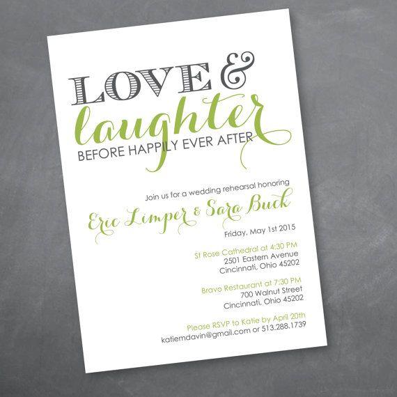 Love and Laughter Rehearsal Dinner Invitation - Digital Design File
