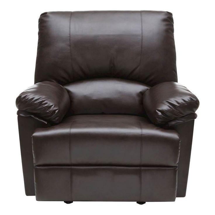 Relaxzen - Heat and Massage Rocker Recliner Chair - Brown