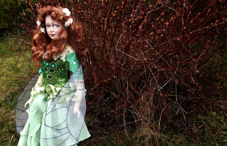 Deidre the Spring Fairy, one of the kind doll from SK Art Dolls