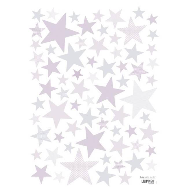 Muurstickers Sterren Superstar Lila van het merk Lilipinso hier online kopen. Mooie muurstickers met sterren voor op babykamer of kinderkamer.